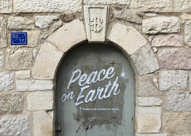 Banksy Bethlehem Peace on Earth