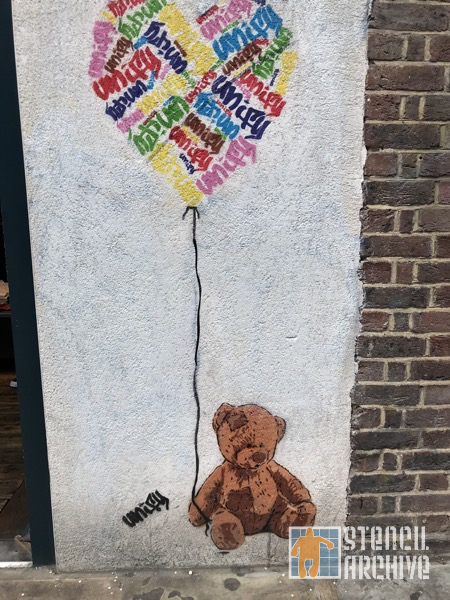 UK London Shoreditch Unity teddy bear