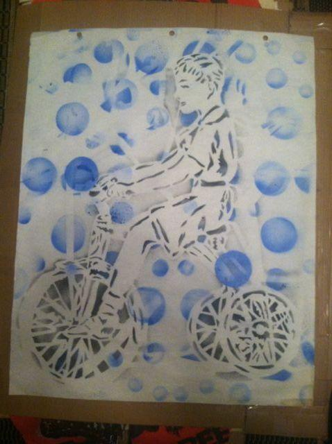 Scott Williams boy on tricycle