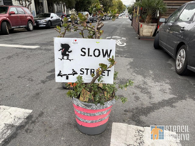 SF Lower Haight Slow Street Sign 02