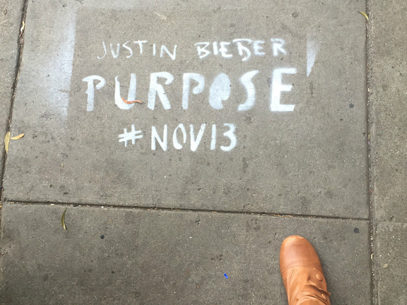 SF Upper Haight Bieber advert