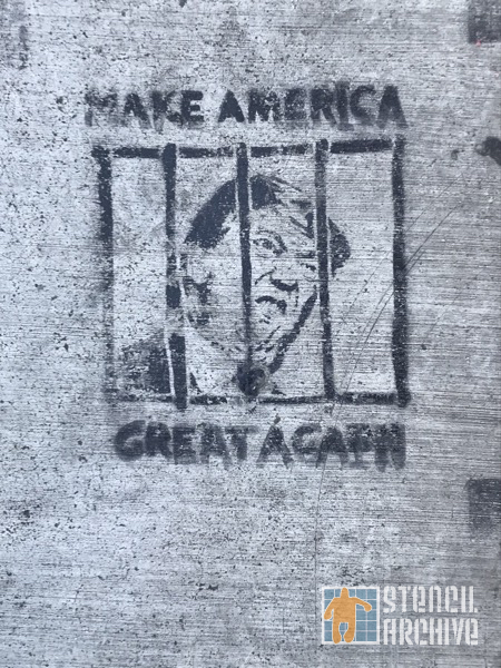 SF Upper Haight Make America Great Trump jailed