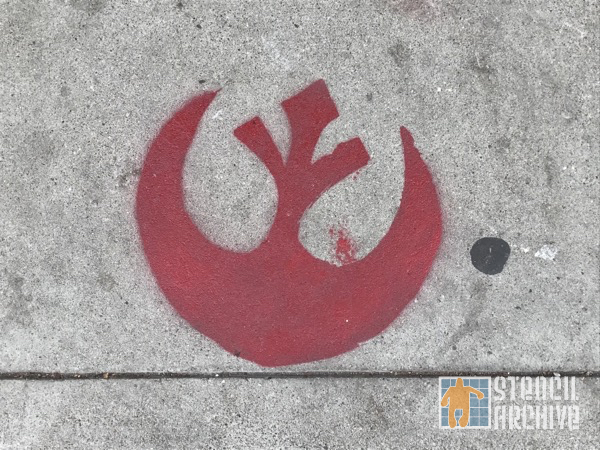 SF Upper Haight Star Wars rebel logo
