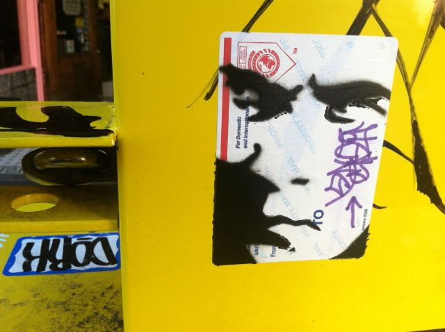 SF Upper Haight looking right sticker