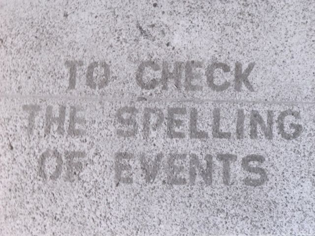 SF Castro c. 2000 check spelling events