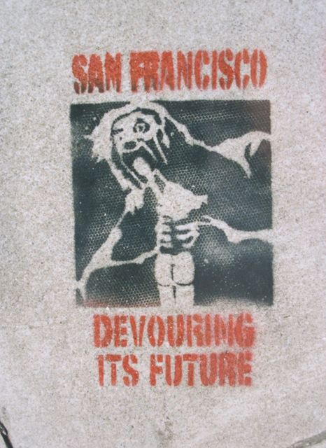 SF Mission Guerrero at 25th 1999 SF Devouring Future