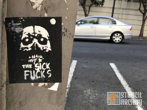 SF Civic Center the Sick F.CKS sticker