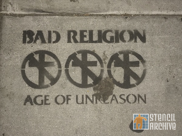 SF Mission Bad Religion advert
