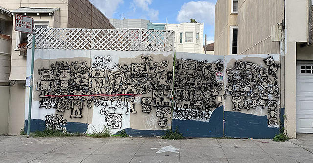 SF Mission Gremlins wall photo L Chavez