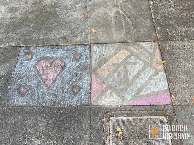 SF Western Addition chalk hearts