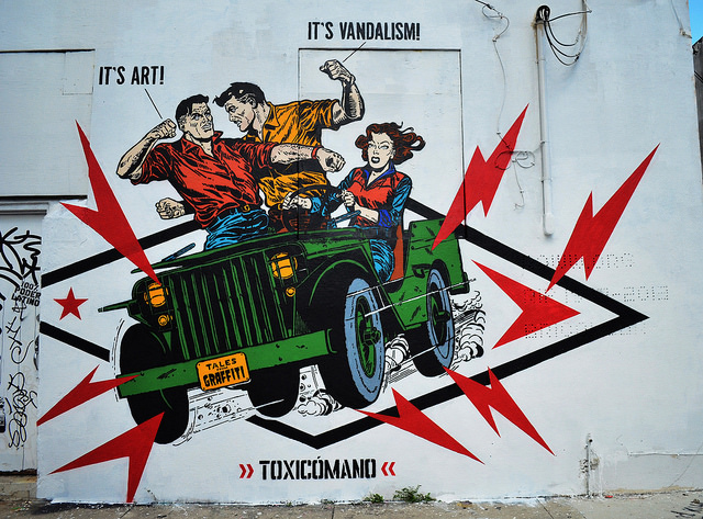 Toxicomano it's art it's vandalism