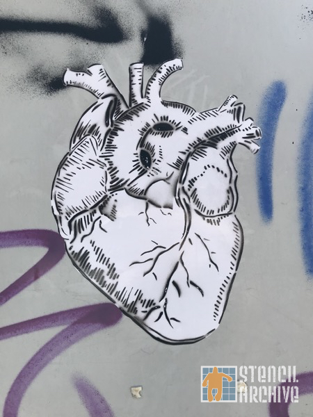 MX CDMX heart wheatpaste