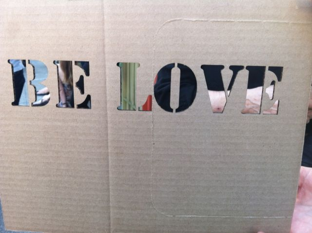 East Bay CA Oakland Art Murmur Be Love cut out