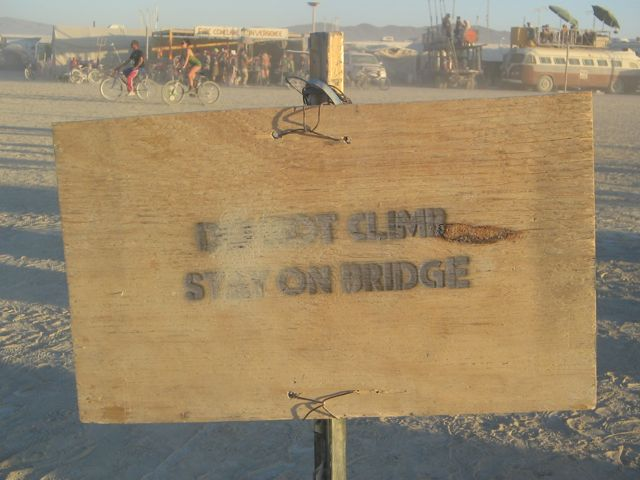 Burning Man 2011 Do Not Climb