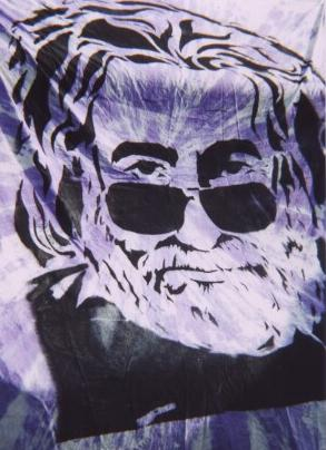 VT Coventry Jerry Garcia Grateful Dead on fabric
