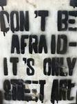 EG Cairo Dont be afraid its only street art