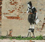 Banksy New Orleans Girl and Mouse