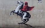 Banksy Paris 2018 Napoleion wrapped in red
