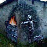 Banksy homeless white Christmas