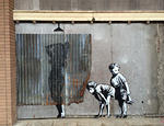 Banksy UK Dismaland peekinginshower