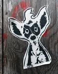 noob masked animal wheatpaste