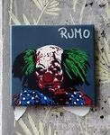 Rumo evil clown on tile