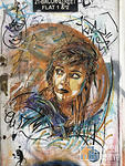 C215 UK London Brick Ln woman looking right