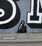Jef Aerosol tiny old woman London EineMural