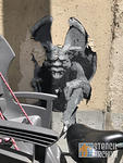 FR Paris Belleville Ender gargoyle paste up