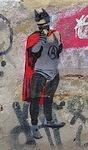 DE Berlin Anarchist super hero circle A