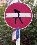DE Berlin carrying bar on sign