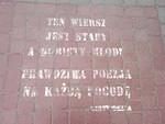 PL Przemysl Poem Old Woman Young