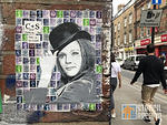 UK London Brick Ln Diana Rigg on stamps
