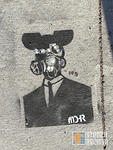 MDR SF Upper Haight Mickey Mouse gas mask