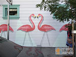 fnnch flamingos making heart