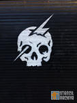 SF Upper Haight skull lightning bolt