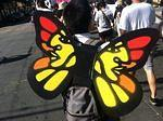 SF Protest May Day 2013 Favianna Monarch wings