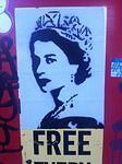 SF Financial District Queen Elizabeth II sticker