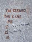 SF Valencia the reasons you gave me
