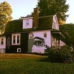 Peat Wollaeger eye mural