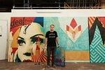 Shepard Fairey Damaged LA Wrong Path w. cut out