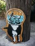 FL Snorkling Cat on panel