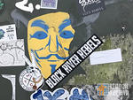 SC Folly Beach Anonymous mask sticker
